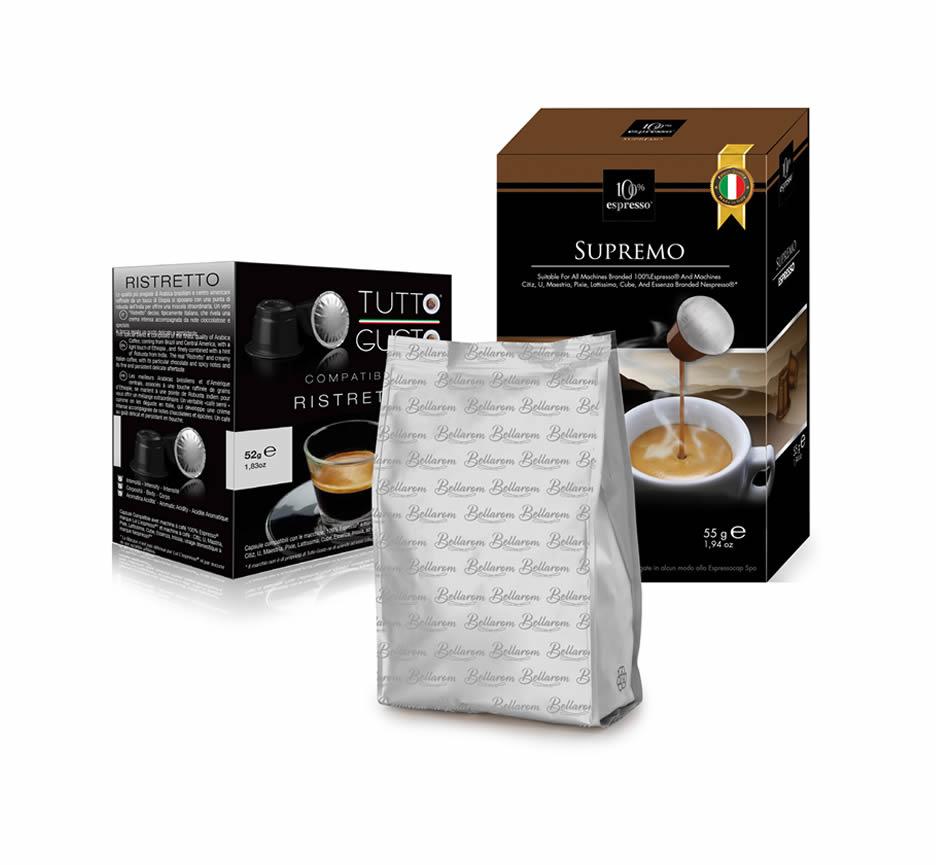 Box da 10 Capsule confezionate in bag compatibili Nespresso